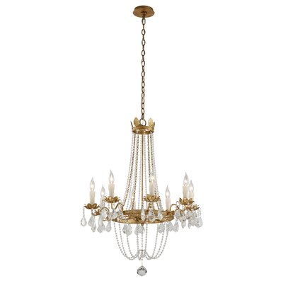 Viola 8-Light Crystal Chandelier