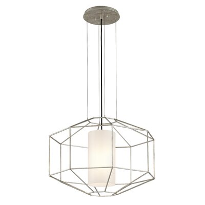 Silhouette 1-Light Pendant Finish: Silver Leaf