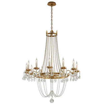 Welcher 12-Light Crystal Chandelier