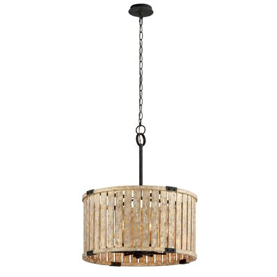 Stix 6-Light Drum Pendant