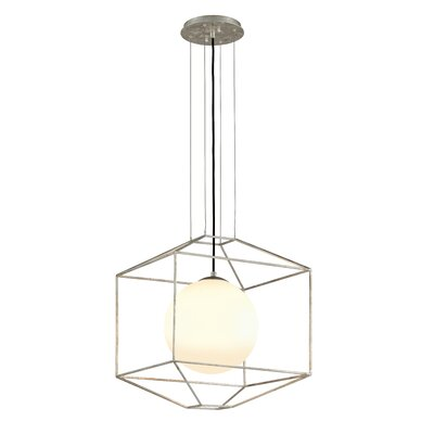 Westerberg 1-Light Foyer Pendant Finish: Silver Leaf