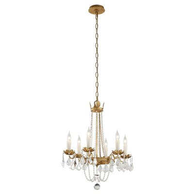 Viola 5-Light Crystal Chandelier