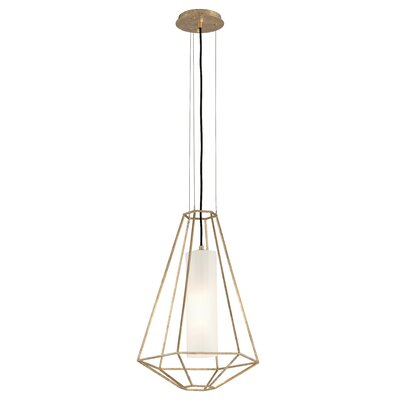 Westerberg 1-Light Metal Pendant Finish: Gold Leaf