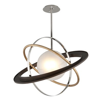 Bermudez 1-Light LED Geometric Pendant Size: 23 H x 30 W x 30 D