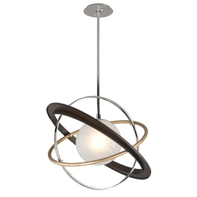 Apogee 1-Light LED Geometric Pendant Size: 18.5 H x 24 W 24 D