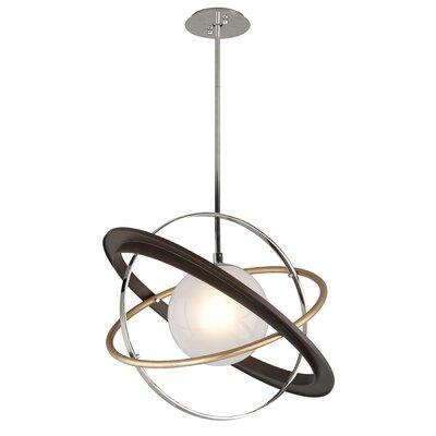 Bermudez 1-Light LED Geometric Pendant Size: 18.5 H x 24 W 24 D