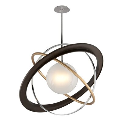Bermudez 1-Light LED Geometric Pendant Size: 30.75 H x 40 W x 40 D
