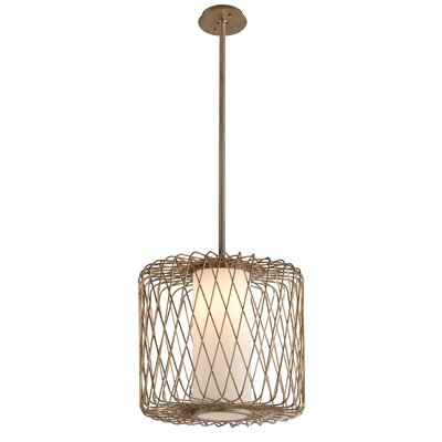 Bradfield 1-Light Drum Pendant Size: 63.75 H x 16 W x 16 D