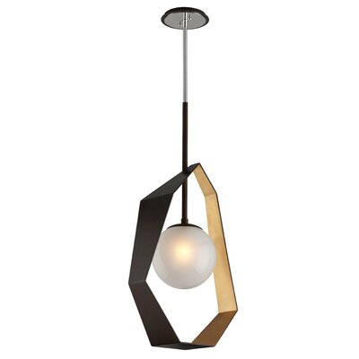 Laylah 1-Light Geometric Pendant Finish: Graphite/Silver Leaf, Size: 83.5 H x 16.5 W x 9.13 D