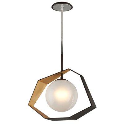 Laylah 1-Light LED Geometric Pendant Finish: Bronze/Gold Leaf