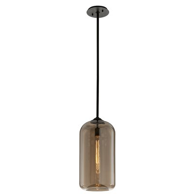 Jacky 1-Light Mini Pendant Shade Color: Brown, Size: 69.75 H x 10 W x 10 D