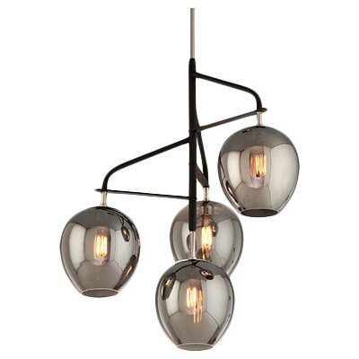 Satchell 4-Light Cascade Pendant Size: Small