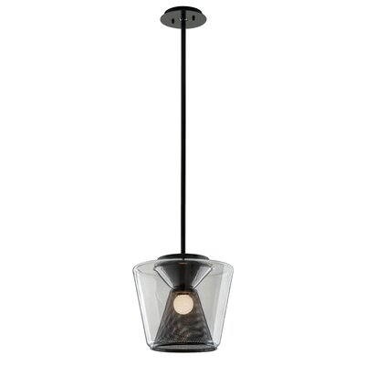 Berlin 1-Light LED Mini Pendant Size: 11 H x 12.5 W x 12.5 D