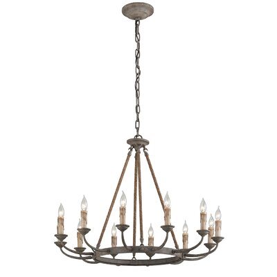 Cyrano 12-Light Candle-Style Chandelier
