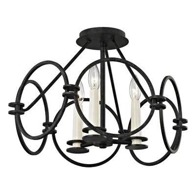 Juliette 3-Light Semi Flush Mount