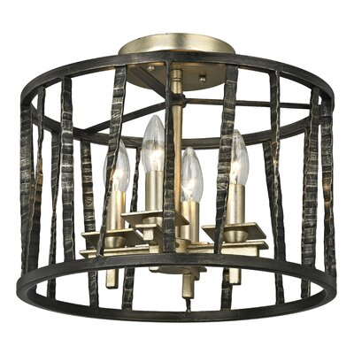 Bastille 4-Light Semi Flush Mount