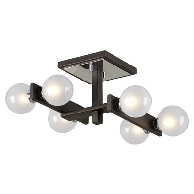 Network 6-Light Semi Flush Mount