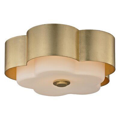 Allure 2-Light Flush Mount Finish: Gold Leaf