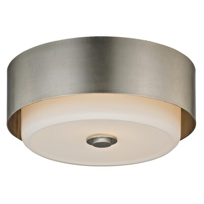 Brynie 2-Light Flush Mount Finish: Silver Leaf