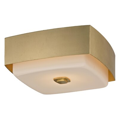 Brynie Contemporary 2-Light Flush Mount Finish: Gold Leaf