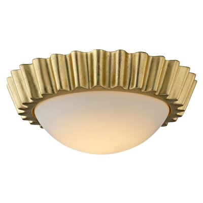 Reese 1-Light LED Flush Mount Finish: Antique Gold Leaf