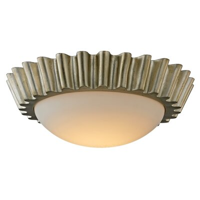 Reese 1-Light LED Flush Mount Finish: Antique Silver Leaf