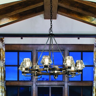 Faction 8-Light Candle-Style Chandelier