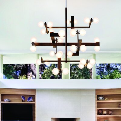 Network 36-Light Branched Chandelier