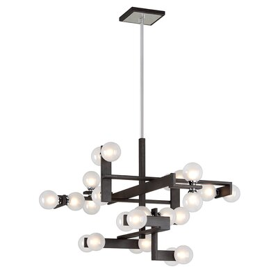 Network 24-Light Branched Chandelier