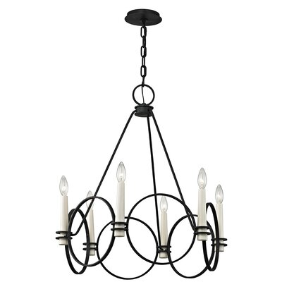 Juliette 6-Light Candle-Style Chandelier