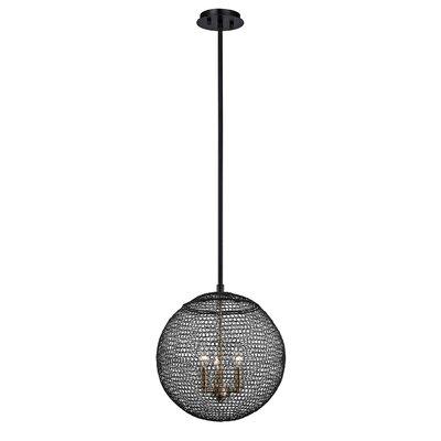 Tsuki 3-Light Globe Pendant