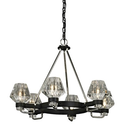 Faction 6-Light Candle-Style Chandelier