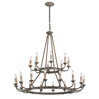 Cyrano 24-Light Candle-Style Chandelier