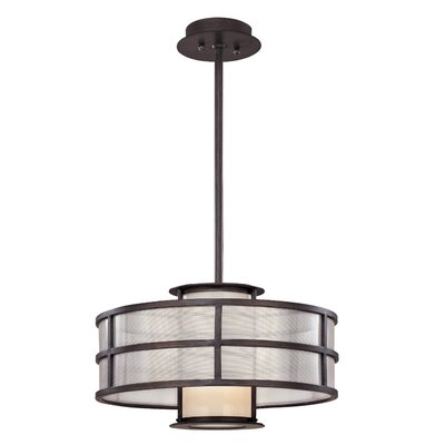 Payne Drum Foyer Pendant Size: 10 H x 18 W x 18 D, Bulb Type: Medium Base