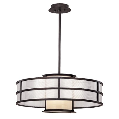 Discus Drum Foyer Pendant Bulb Type: Medium Base, Size: 10 H x 24 W x 24 D