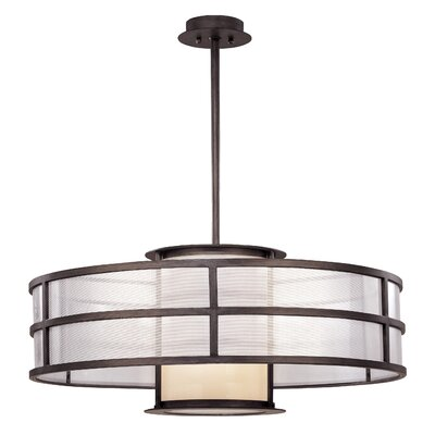 Discus Drum Foyer Pendant Bulb Type: Medium Base, Size: 13.5 H x 32 W x 32 D