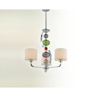 Fizz 3-Light Drum Chandelier