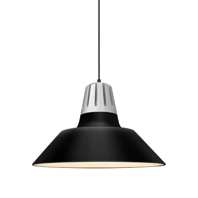Harnden 1-Light Inverted Pendant Finish: Gloss Black Shade, Size: 49 H x 20 W x 20 D