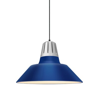 Harnden 1-Light Inverted Pendant Finish: Blue Shade, Size: 49 H x 20 W x 20 D