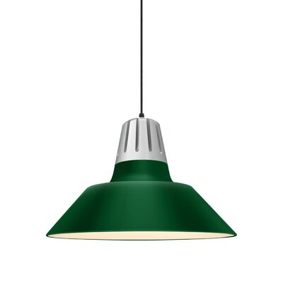 Harnden 1-Light Inverted Pendant Finish: Hunter Green Shade, Size: 48 H x 18 W x 18 D