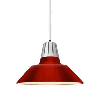 Harnden 1-Light Inverted Pendant Finish: Red Shade, Size: 49 H x 20 W x 20 D