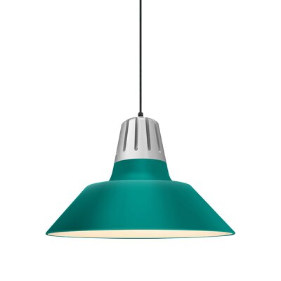 Harnden 1-Light Inverted Pendant Finish: Tahitian Teal Shade, Size: 49 H x 20 W x 20 D