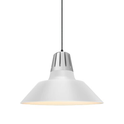 Harnden 1-Light Inverted Pendant Finish: Gloss White Shade, Size: 49 H x 20 W x 20 D