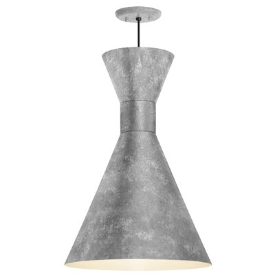 Harjo 1-Light Inverted Pendant Finish: Galvanized Shade and Center Adapter, Size: 51.25 H x 10 W x 10 D