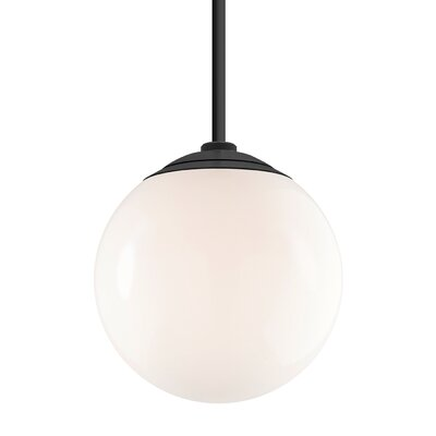 Harman 1-Light Stem Globe Pendant Finish: Gloss Black Stem, Size: 40 H x 16 W x 16 D