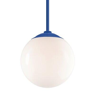 Harman 1-Light Stem Globe Pendant Finish: Blue Stem, Size: 40 H x 16 W x 16 D
