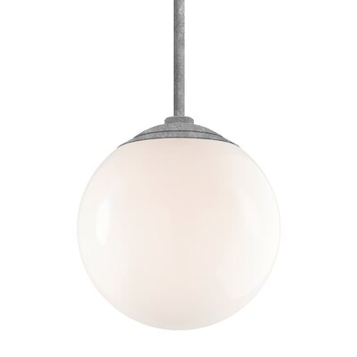 Harman 1-Light Stem Globe Pendant Finish: Galvanized Stem, Size: 40 H x 16 W x 16 D