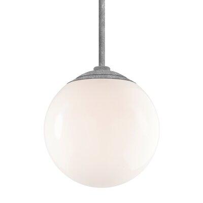 Harman 1-Light Stem Globe Pendant Finish: Galvanized Stem, Size: 36 H x 12 W x 12 D