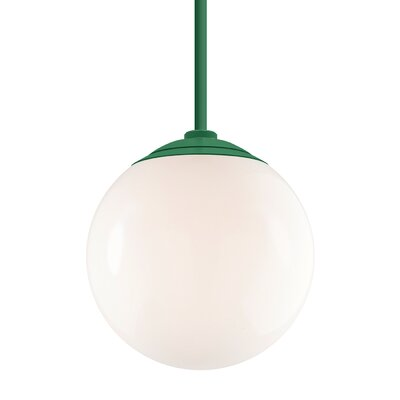 Harman 1-Light Stem Globe Pendant Finish: Hunter Green Stem, Size: 40 H x 16 W x 16 D
