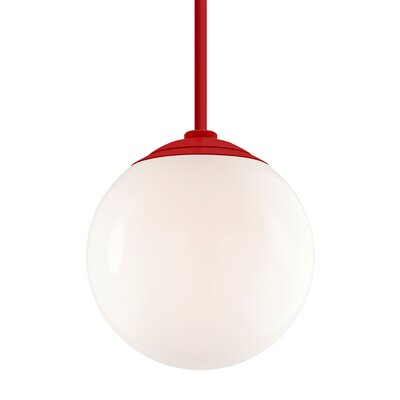 Harman 1-Light Stem Globe Pendant Finish: Red Stem, Size: 40 H x 16 W x 16 D